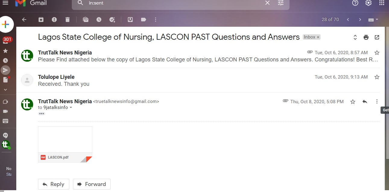 School of nursing past questions and answers for free