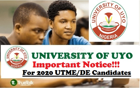 UNIUYO Important Notice for 2020 Candidates