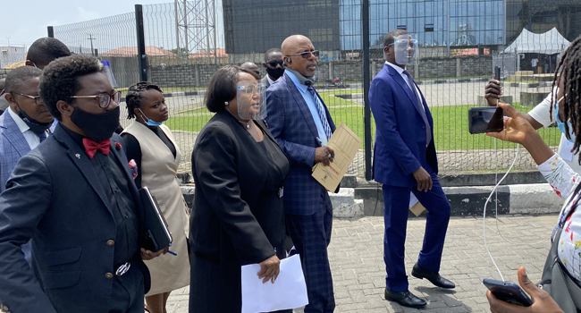 What Lagos judicial panel visited Lekki toll gate to do