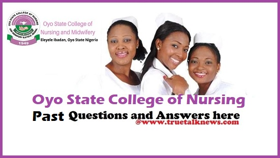 Oyo State Nursing past Questions and Answers