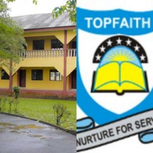 """The able youths of Essien Udim & the Real Dark Boys Group, has warned bandits threatening to destroy the school that Topfaith Schools is """"NOT"""" a Government owned institution."""