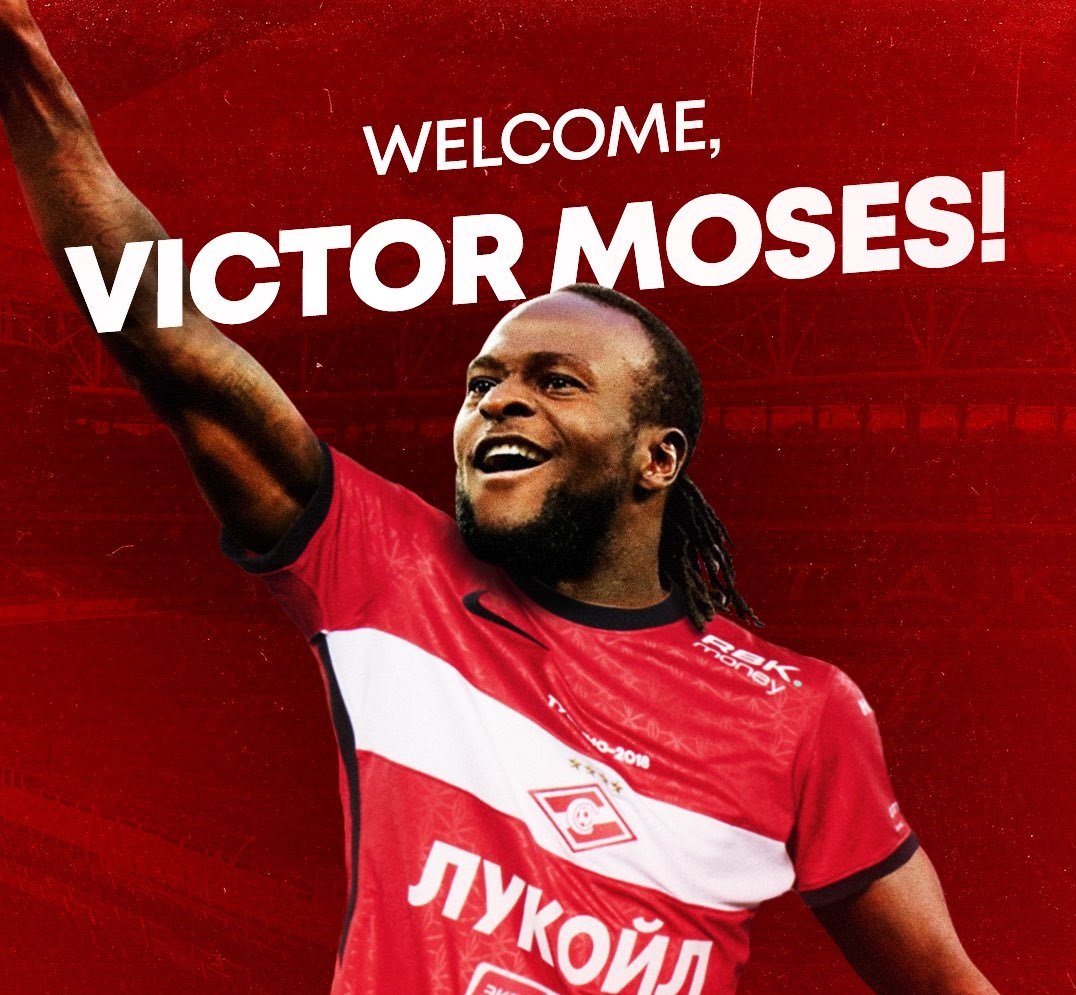 Victor Moses in Spartak Moscow